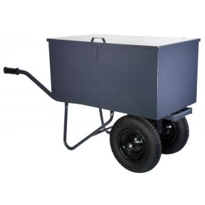 Kruiwagen met gereedschapbak en 2 wielen - Anti-lek band