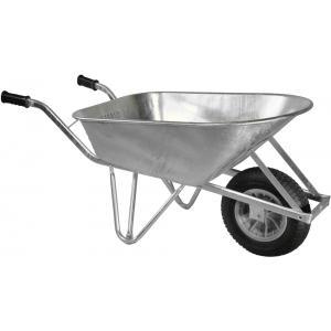 Gegalvaniseerde kruiwagen 120 liter - Anti-lek wiel