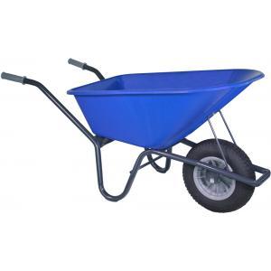 Kruiwagen gecoat 100 liter blauw - Binnenband