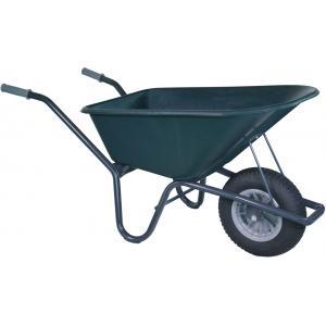 Kruiwagen gecoat 100 liter groen - Anti-lek band