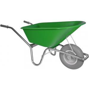 Kruiwagen verzinkt 100 liter lime groen - Anti-lek band