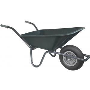 Kruiwagen basic grijs 80 liter groen - Binnenband