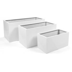Argento plantenbak Box Set (3) glanzend wit