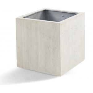 Grigio plantenbak Cube L antiek wit betonlook