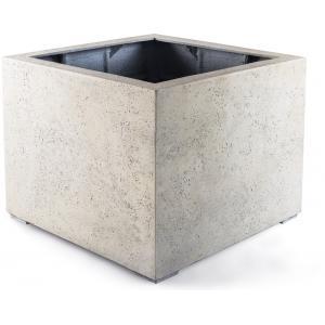 Grigio plantenbak Low Cube M antiek wit betonlook