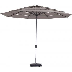 Madison parasol Syros Open Air rond 350 cm taupe