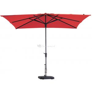 Madison parasol Syros Luxe vierkant 280 cm rood