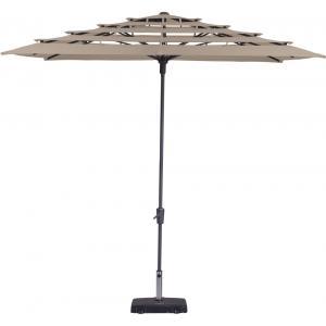 Madison parasol Syros Open Air vierkant 280 cm ecru