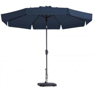 Madison parasol Syros rond 350 cm blauw