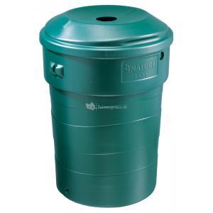 Stevige kunststof regenton 180 liter groen