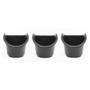 Vierkante potten 0,9l voor verticaal tuinierset zwart