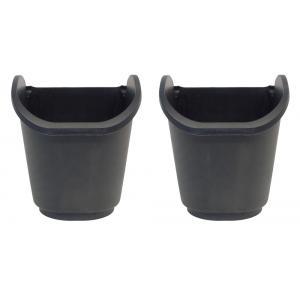 Vierkante potten 2,5l voor verticaal tuinierset zwart