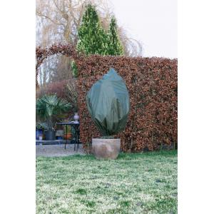 Winterafdekhoes met koord 50 g/m2 groen - 75 x 150 cm