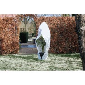 Winterafdekhoes met rits 70 g/m2 wit - 250 x 300 cm