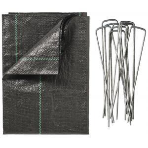 Worteldoek 1x10 meter inclusief grondpennen