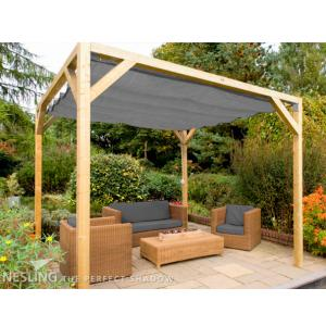 Complete Nesling pergola Stand Alone antraciet - 370 x 500 cm
