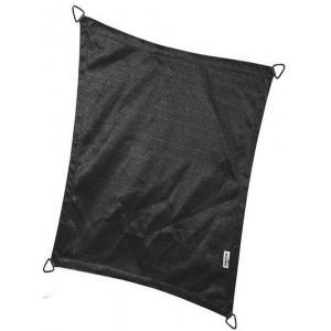 Coolfit schaduwdoek rechthoek 3x4 meter zwart