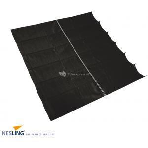 Coolfit harmonica schaduwdoek zwart - 2.0 x 4.0 meter