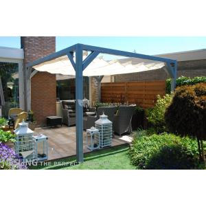 Complete Nesling pergola Stand Alone gebroken wit - 370 x 370 cm