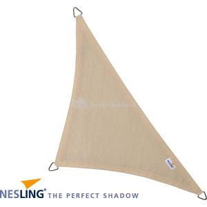 Coolfit schaduwdoek driehoek 90 graden gebroken wit - 4.0 x 4.0 x 5.7 meter