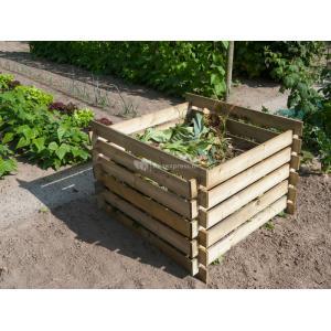 Compostbak van hout