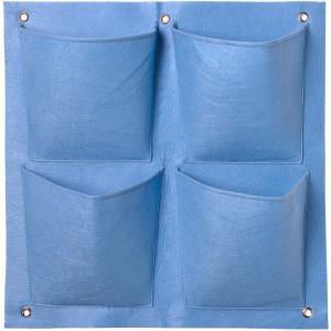 Plantentas voor verticaal tuinieren blauw - 4 zakken 49.5 x 50 cm