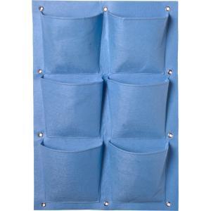 Plantentas voor verticaal tuinieren blauw - 6 zakken 72 x 50 cm