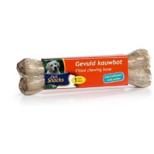 DeliSnacks gevuld kauwbot met bullepees hondensnack - 2 stuks - 10 cm