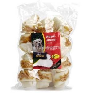 DeliSnacks kauwknoop kip hondensnack - 3 stuks - 13 cm