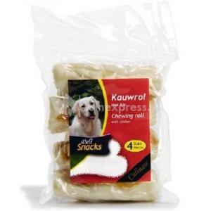 DeliSnacks kauwrol met kip hondensnack