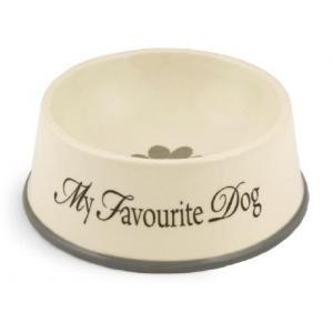 Hondenvoerbak hond my favourite - 22 x 8.5 cm