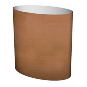 Cortenstaal plantenbak Big Oval 75x45x75cm op een ring