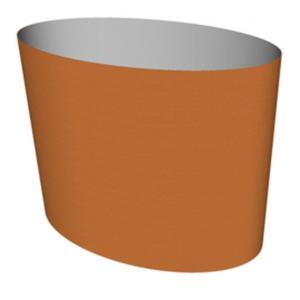 Cortenstaal plantenbak Big Oval 95x55x75cm op wielen
