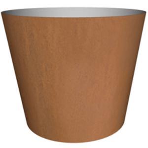 Cortenstaal plantenbak Conica hoog 40x48cm op een ring