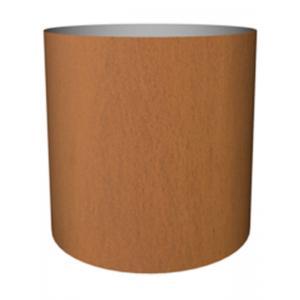 Cortenstaal plantenbak Standard cylinder 25x24cm op noppen van vilt