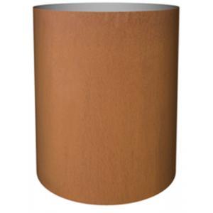 Cortenstaal plantenbak Standard cylinder 52x40cm op wielen