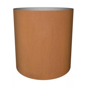 Cortenstaal plantenbak Standard cylinder 52x48cm op wielen