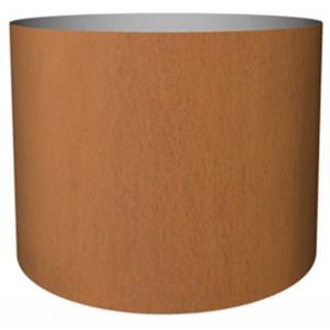 Cortenstaal plantenbak Standard cylinder 77x95cm op een ring
