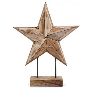 Deco Ster houten beeld 30 cm