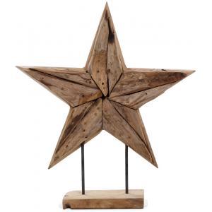 Deco Ster houten beeld 50 cm