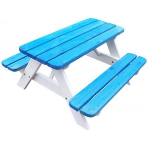 Kinderpicknicktafel Mickey blauw/wit