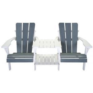 Dubbele loungestoel Montreal grijs/wit