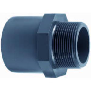 PVC puntstuk met buitendraad - 40 mm x 1 1/4