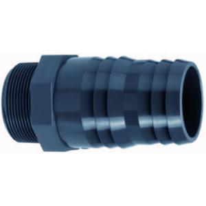 PVC slangtule met buitendraad - 1 1/2 x 50 - 52 mm