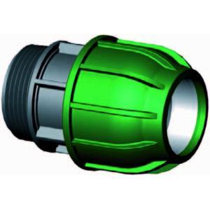 Koppeling met buitendraad - buiskoppeling - 32 mm x 3/4