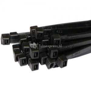 Kabelverbinder wit en zwart 100 stuks - Zwart