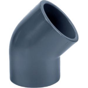 PVC knie 45 graden - 90 mm