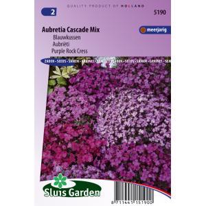 Blauwkussen bloemzaden - Aubretia Cascade Mix