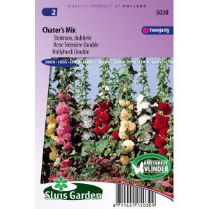 Stokroos dubbele bloemzaden - Chater's Mix