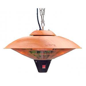 Hangende 2100 Watt elektrische terrasverwarmer wood
